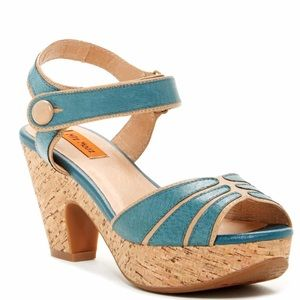 {Miz Mooz} Corbin Cork Platform Sandals Size 8
